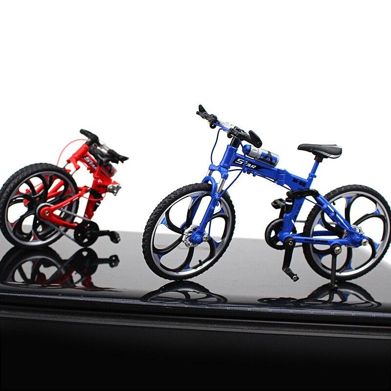 Dedo nuevo aleación bicicleta modelo Mini plegable MTB juguete BMX bicicleta niños juguete creativo juego regalo