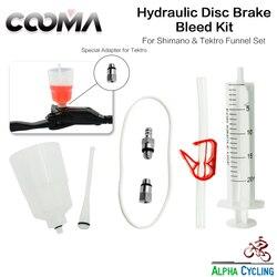 Kit de sangria de freio hidráulico de cooma, para freio hidráulico de shimano, óleo mineral, kit de ferramenta de sangria básica