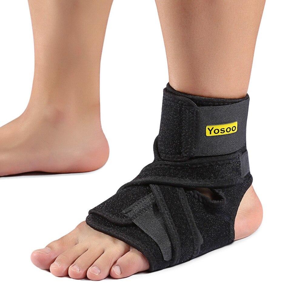 Yosoo, soporte ajustable para tobillo, almohadilla de protección, vendaje elástico, tobillera, protector, espray, vendaje para lesión, almohadilla de talón para baloncesto