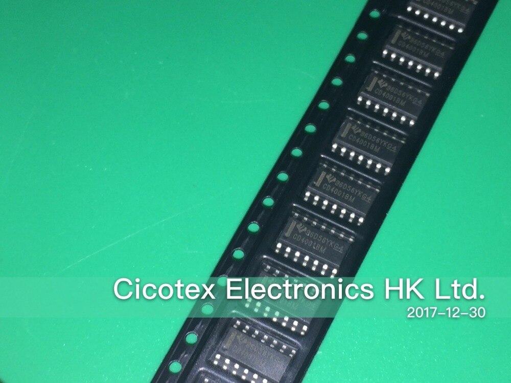 20 unids/lote CD4001BM SOP-14 IC puerta ni 4CH 2-INP 14-SOIC CD4001BM96
