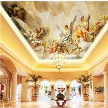 Beibehang-papier peint papel de paréo   Grand papier peint photo 3d personnalisé, diagramme de jeu dange, plafond zénith de style européen, 3d