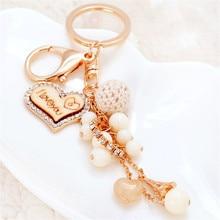Брелки для ключей в виде сердца, женские Брелки с подвеской в виде сердца
