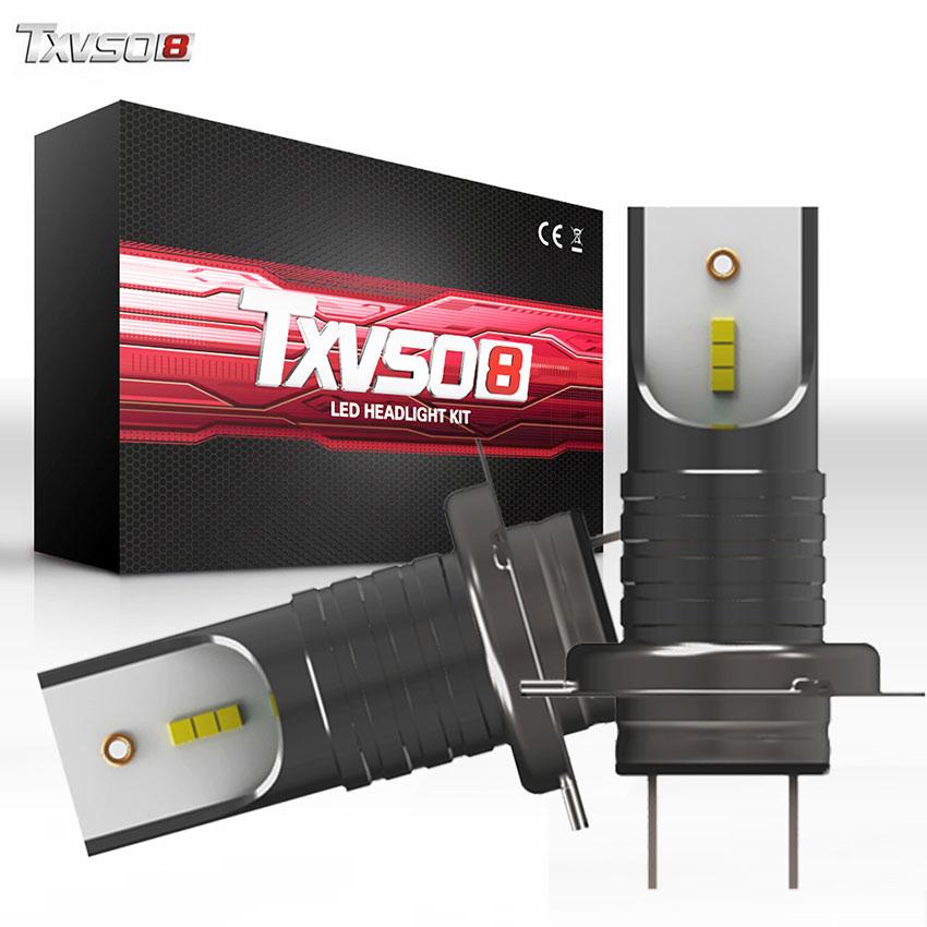 TXVSO8 5 pares coche H7 Bombillas de faros LED CSP Chips 30000LM 6000K Mini bombilla H7 bombilla Led de luz antiniebla 55W Auto ampolla lámpara 12V