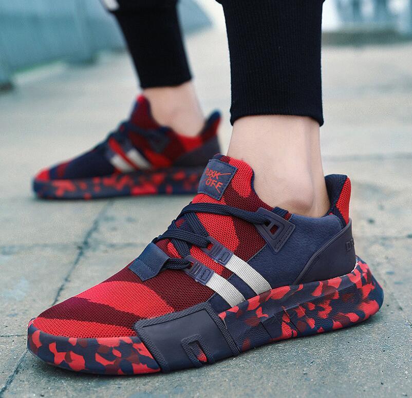 Delocrd camo sapatos masculinos streetwear tênis zapatillas hombre chaussure hip hop malha de ar sapatos casuais