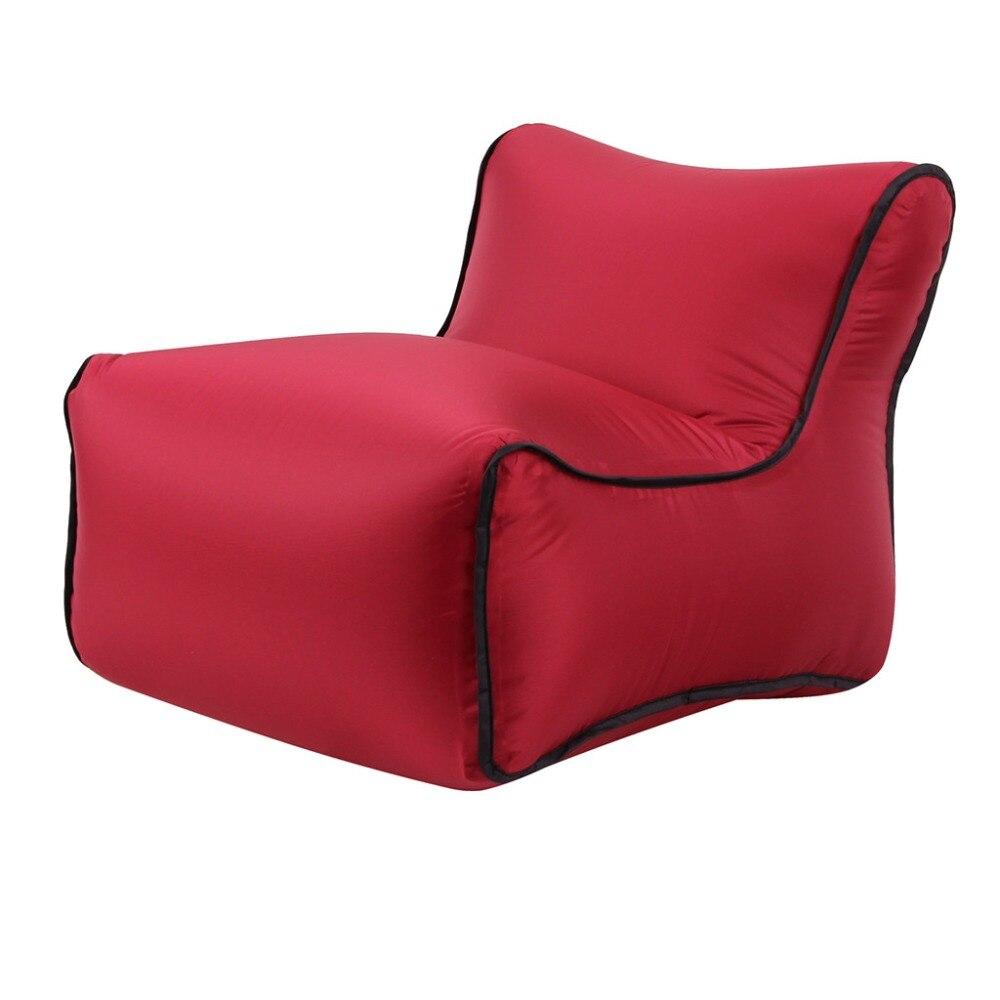 Inflable aire tumbona Lazy sofá silla sofá bolsas Fiesta al aire libre Camping viaje 19JAN 28 hogar textil funda de almohada