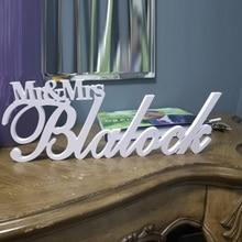Custom Naam Mr & Mrs Met Laatste Naam Achternaam Tafel Teken Gepersonaliseerde Bruiloft Teken Mr En Mrs Middelpunt Decoratie teken Familie
