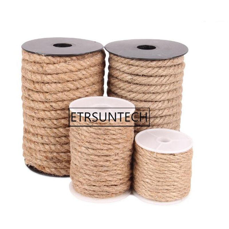 30 stücke 4/6/8/10mm Natürliche Jute Schnur Seil String für DIY Schmuck Handwerk Machen geschenk Verpackung Hang-Tag-String Für Hause