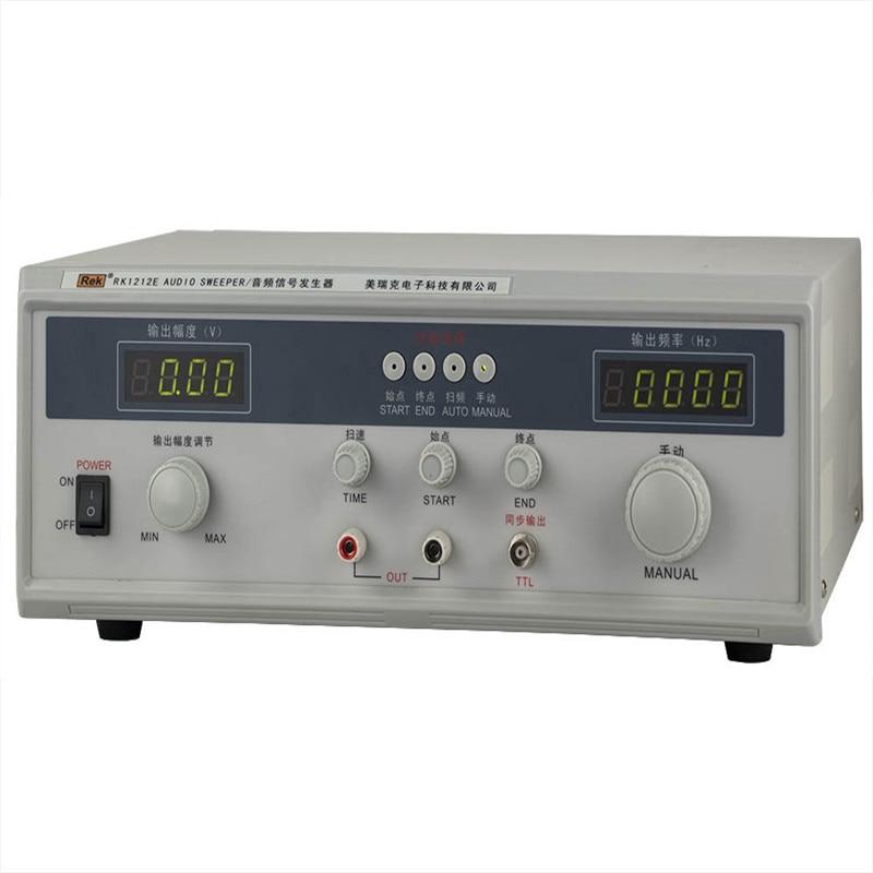 Rek 60 W Audio frequenz sweep signal generator Rk1212E (AC) 0-18 Vrms,