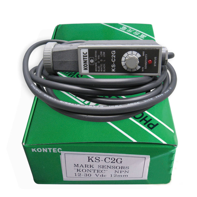KONTEC luz verde Color marcado foto eléctrico ojo Sensor KS-C2G