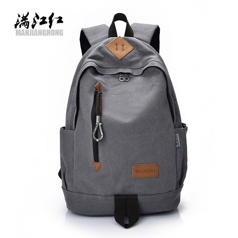 MANJIANGHONG Brand Fashion mens school backpack Men Laptop backpack large capacity canvas notebook travel bags