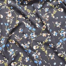 145x100cm Imported Floral Print Soft Chiffon Fabric for Women beach Dress,Shirts Sewing Patchwork Cl