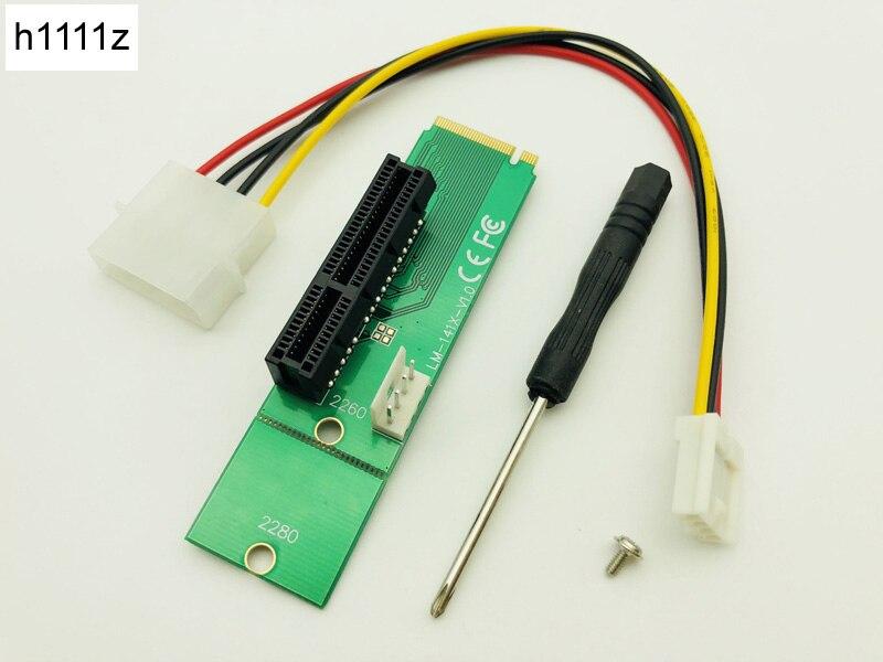 NGFF Riser M2 M.2 a PCI-E 4x 1x Slot Riser adaptador conversor...