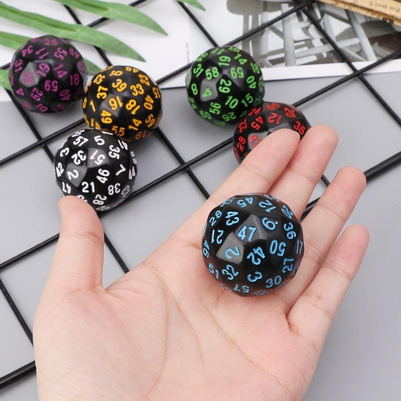 6 unids/set 60 lados D60 dados poliédricos acrílicos digitales dados para Casino D & D RPG MTG partido Mesa juego de mesa Dropshipping