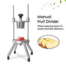 Vertical Manual Fruit Divider Machine Aluminum Alloy Handle Fruit Shard Block Maker Kitchen Cutting Tool