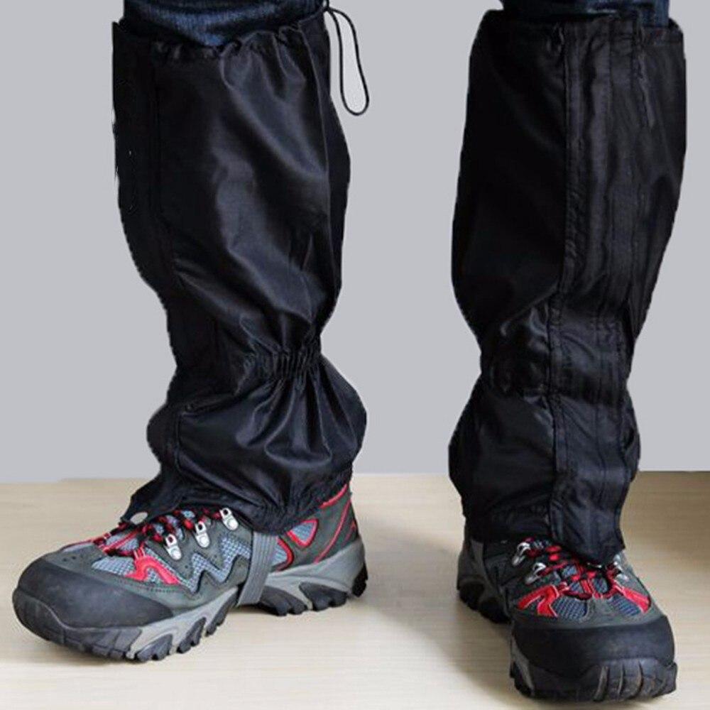 1 par de polainas de senderismo Legging caminar escalada caza polaina nieve Ripstop transpirable impermeable guantes tela