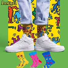 Cotton Fashion Hiphop Funny Socks Men Women Cute Heart Colorful Art Sokken Harajuku Creative High Qu