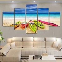 modern canvas pictures hd printed wall art unframed 5 pieces mediterranean style sea yacht scenery home decoration painting