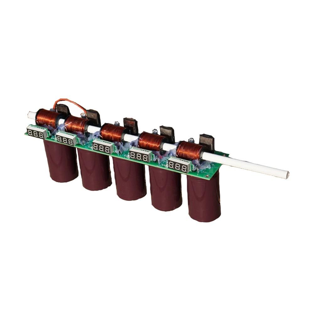Dritte generation, multi-ebene elektromagnetische gun fertigen produkt, diy kit, 3-10 ebene spule pistole doppel anzeige meter