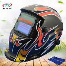 Schleifen Schweißen Helm Tig Mig Auto Verdunkelung Schweißen maske mit dicken Handschuhen Halbautomatische Solder solar batterie HD05 (2233DE) GB