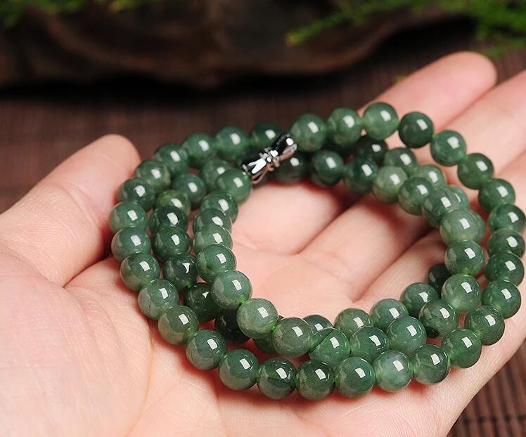 Изящные Ювелирные изделия очаровательные! 8-10 мм натуральный бирманский жадеит Сердолик бусы длинное ожерелье Бесплатная доставка