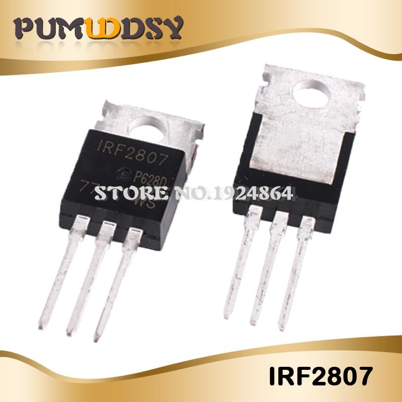 10 pces irf2807pbf to-220 irf2807 to220 novo mos fet transistor de boa qualidade ic