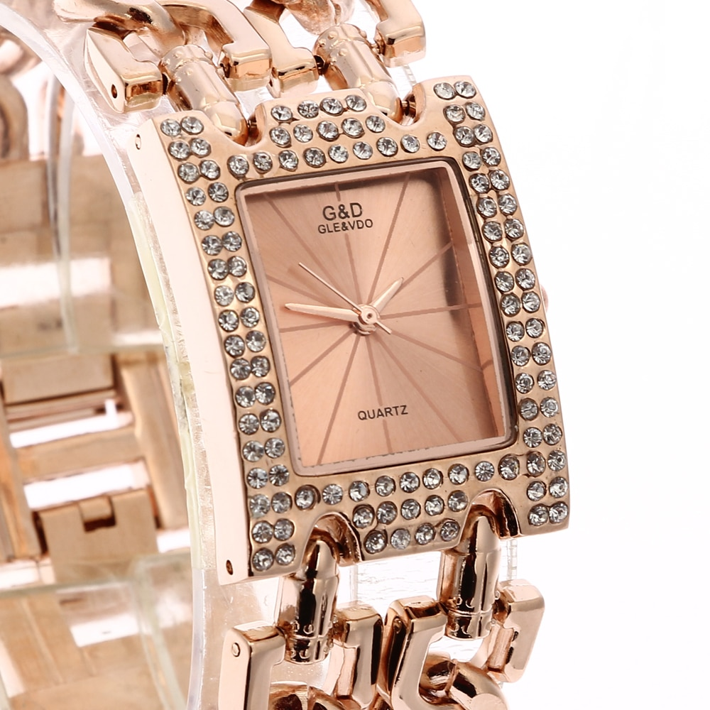 2020 New Fashion Women's Wrist Watch Analog Quartz Watches Stainless Steel Band Rose Gold enlarge