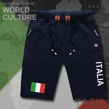 Итальянские мужские пляжные шорты Italian, новые мужские шорты для занятий бодибилдингом с флагом и карманами на молнии