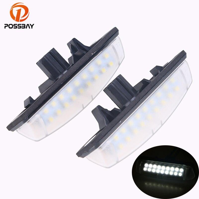 POSSBAY Car License Plate LED Light Lamps for Toyota Avensis Verso Camry Aurion Prius for LEXUS Car External Light