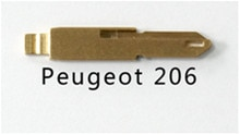 KEYECU 10pcs/lot KEYDIY Universal Remotes Key Flip Blade NE73, NE72 for Peugeot 206