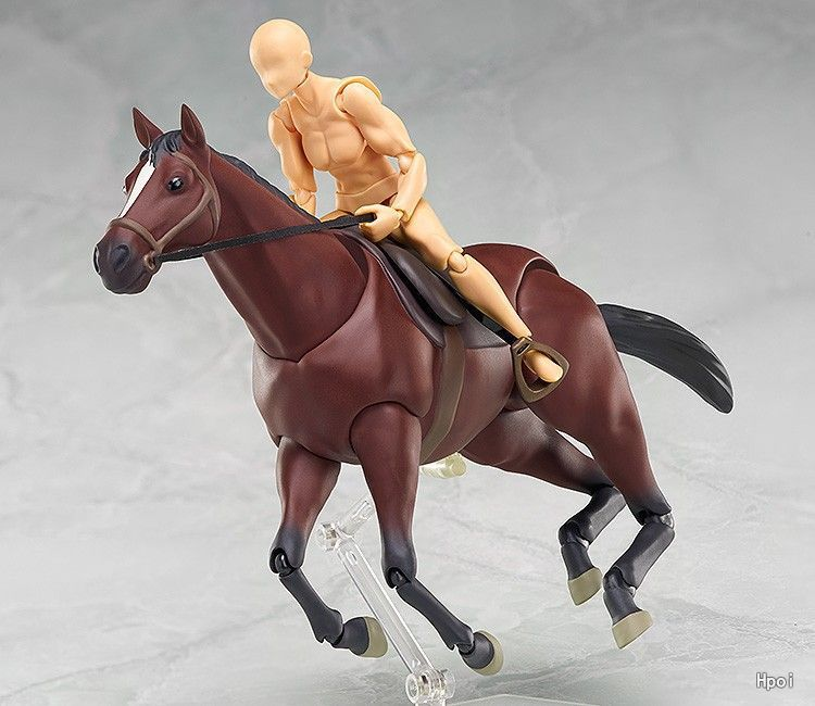 Экшн-фигурки Figma 246 Horse White & Chestnut BJD, ПВХ, модели игрушек, могут работать с корпусом Кун и Чан