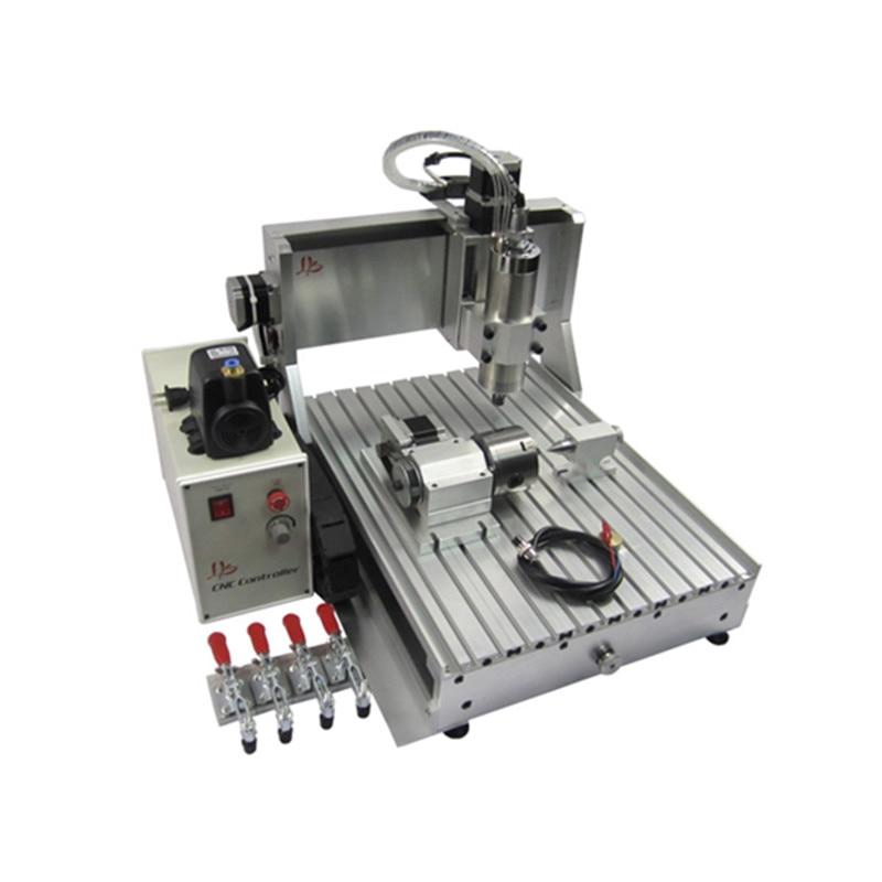 4 ציר USB יציאת CNC כרסום מכונה 3040 1.5KW VFD נגרות מתכת נתב 4030 מים קירור ציר