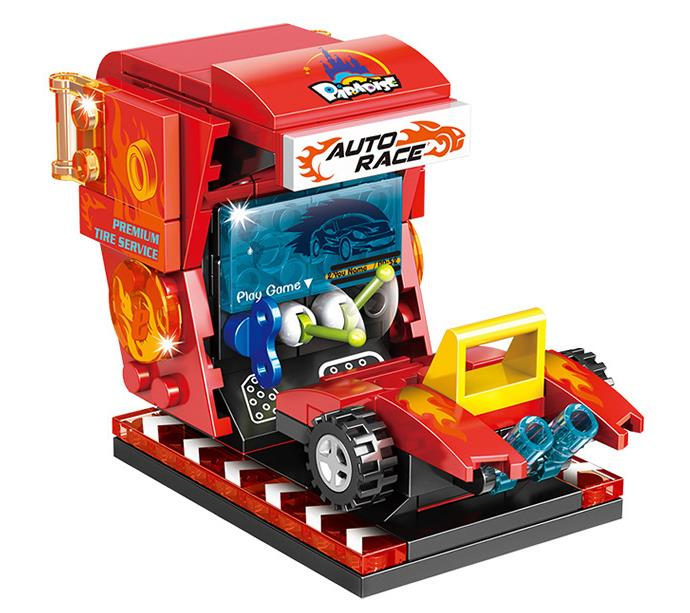 Nuevo Modelo de bloques de construcción para sala de juegos, parque urbano, sala de juegos de carreras, equipo divertido, juguetes de Ladrillos educativos de Diseño Técnico