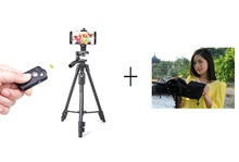 Professional Travel Portable Aluminum Tripod Raincover Camera Head For SLR DSLR digital Camera Phone