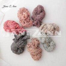 Jane Z Ann Newborn photography props multi-color dot wraps blankets baby photography studio accessories 25*170CM