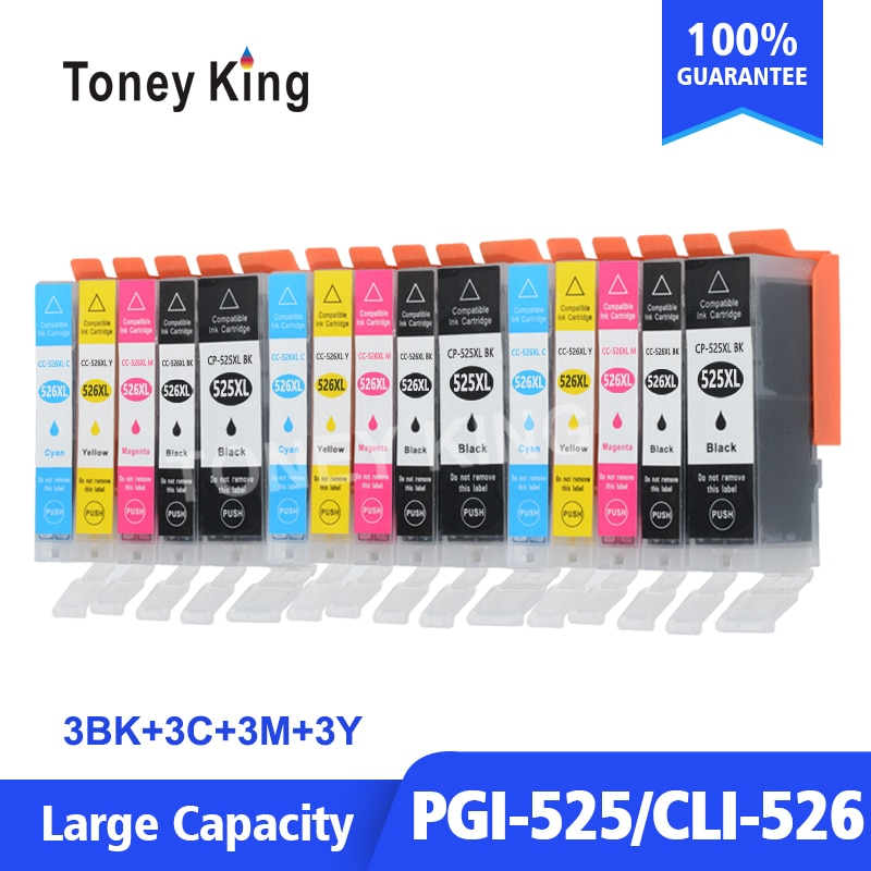 PGI 525 PGI525 PGI-525 CLI-526 526 cartucho de tinta para Canon iP4850 iP4950 MG5150 MG5250 MG6150 MG8150 impresora cartuchos de inyección de tinta