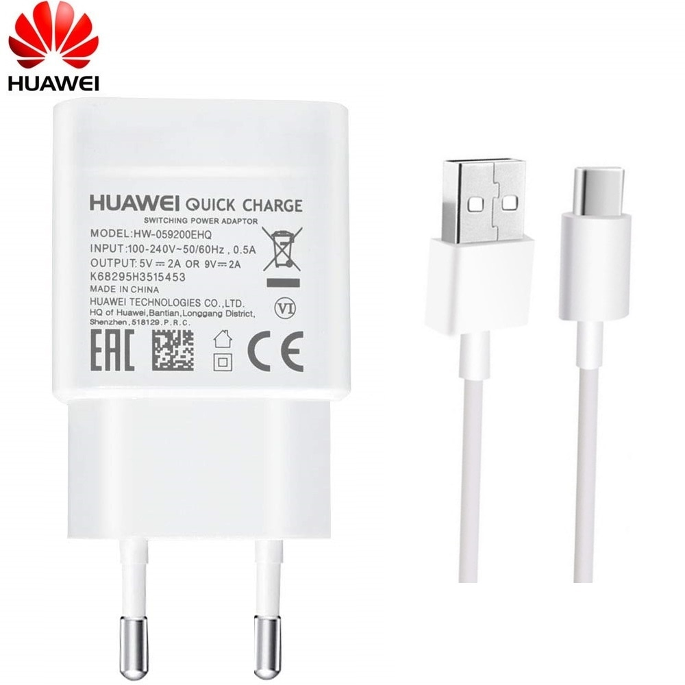 Huawei 9V2A EU charger QC 2.0 Quick Fast Charge Adapter USB Type-c For nova3 3i 4 honor 9 8x p7 p8 p