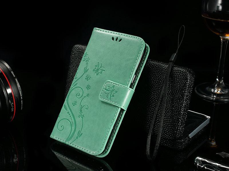 Dla microsoft nokia lumia 640 lumia 630 lumia 550 worek nadrukowane butterfly pu wizytownik skórzany telefon okładka case shell 15