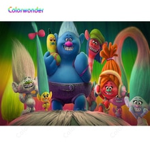 Colorwonder التصوير خلفية ترول مدينة الوردي كوبر مع له الملونة الأصدقاء 7x5ft الملونة الشعر خلفية ل كابينة تصوير