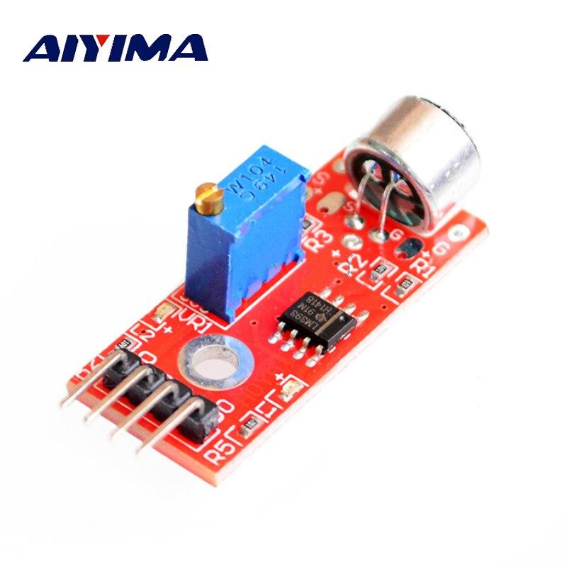 AIYIMA 1 unidad Mini Jack 3MM Módulo Sensor de micrófono de alta sensibilidad módulo amplificador Microfono DIY para micrófono Smartphone