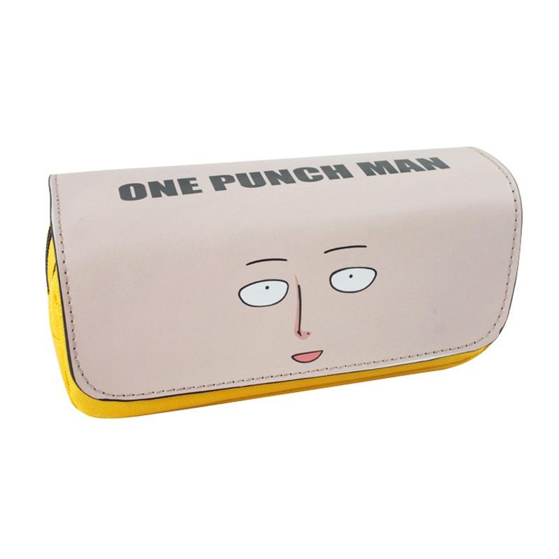 3 estuches cosméticos estilo Anime One Punch para hombre, bolsa de maquillaje con cremallera colorida, bolsa organizadora para hombres y mujeres
