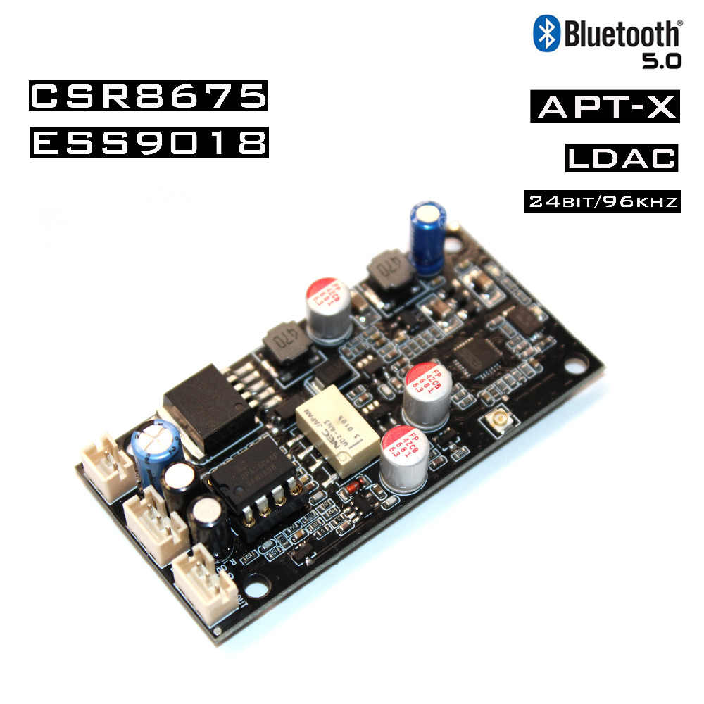 New Csr8675 Wireless Adapter Bluetooth 5 0 Receiver Board Es9018 I2s Dac Audio Decoder Board 24bit 96khz Ldac With Antenna Integrated Circuits Aliexpress