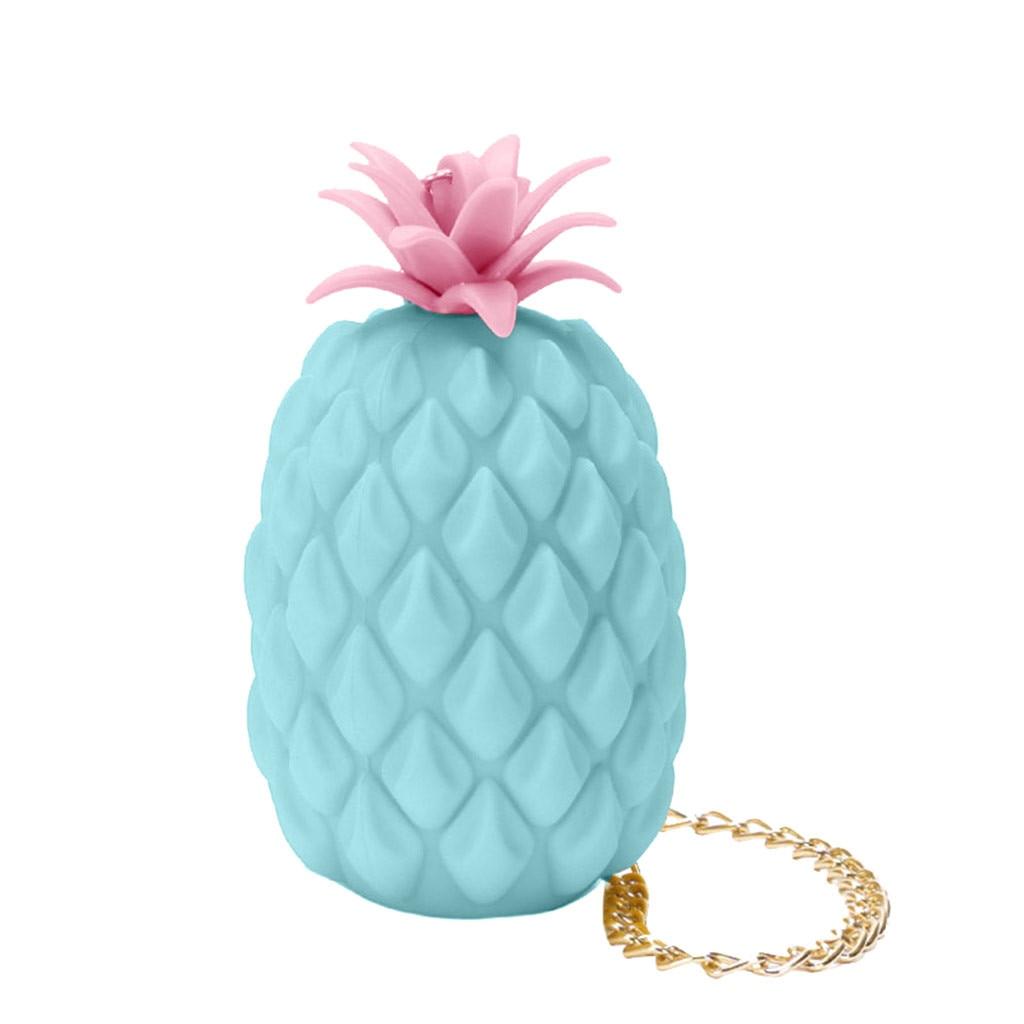 Damska ananasowa galaretka silikonowa torba mała na ramię torba Carteras Mujer De Hombro