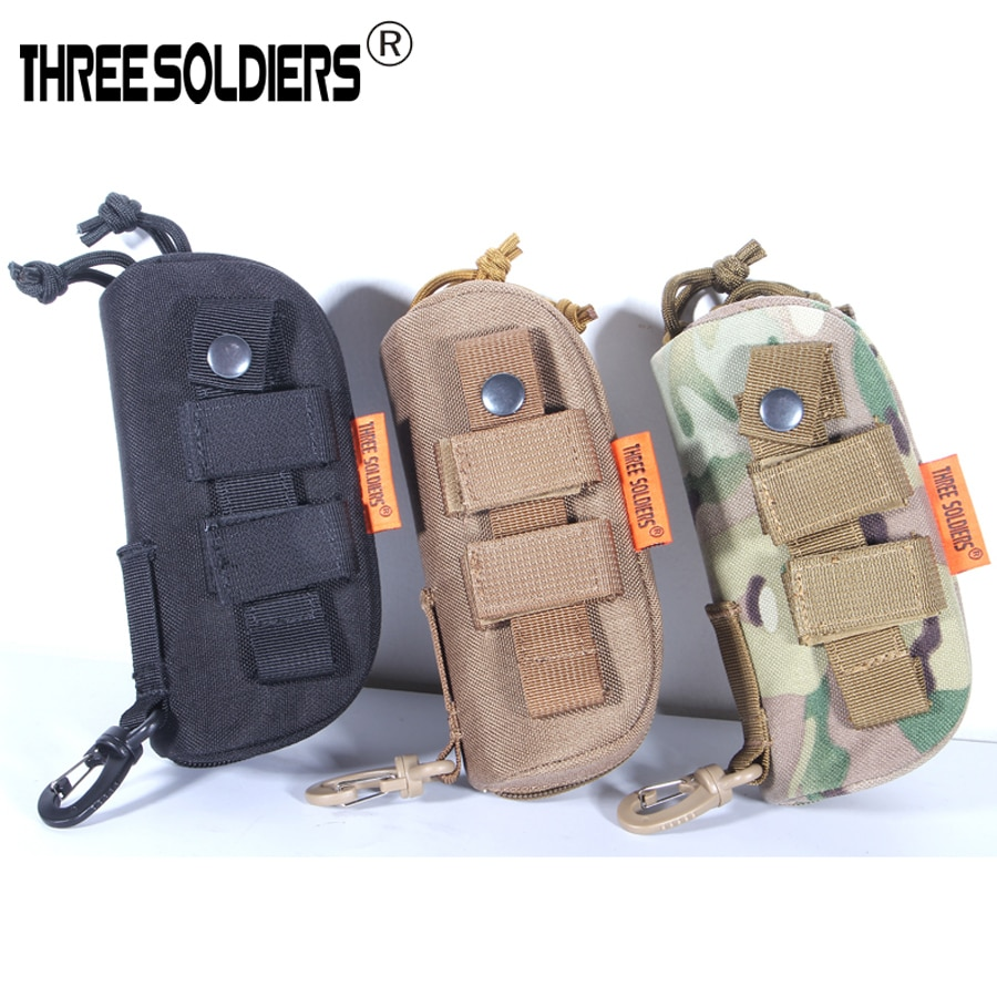 OutdoorTactical Molle Glasses Carrying Case 1000Dnylon Portable Sunglasses Eyewear Box Shockproof Protective Goggles Storage Box