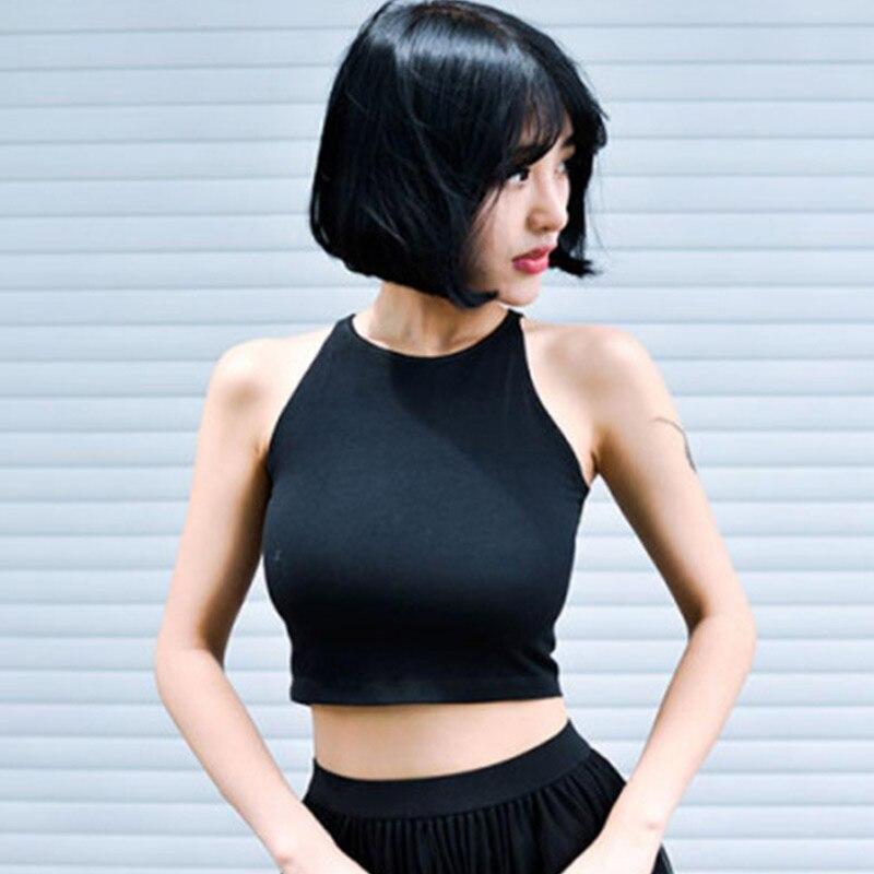 Women Summer Crop Tops Round Neck Sleeveless Slim Fit Pullover Female Vest NYZ Shop