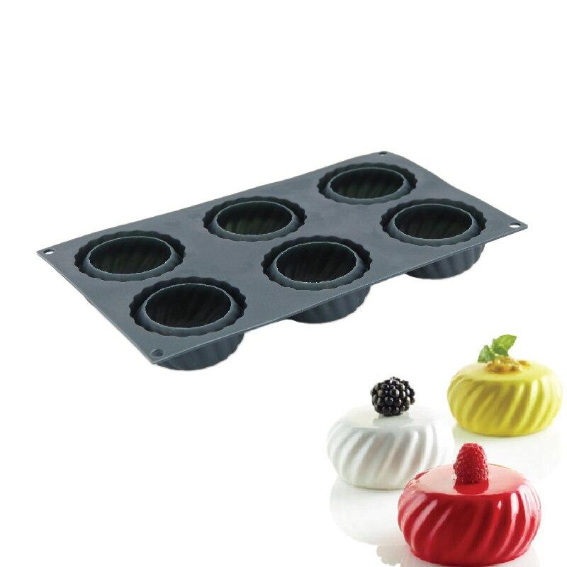 1 Uds molde de silicona en forma de pastel de Luna 3D herramientas de decoración para hornear pasteles para Chocolate postres de Mousse horneado en casa moldes de pastelería