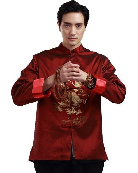 Shanghai Story chaqueta de hombre chino ropa tradicional china dragón Kungfu camisa chino tradicional estilo chino Top Man