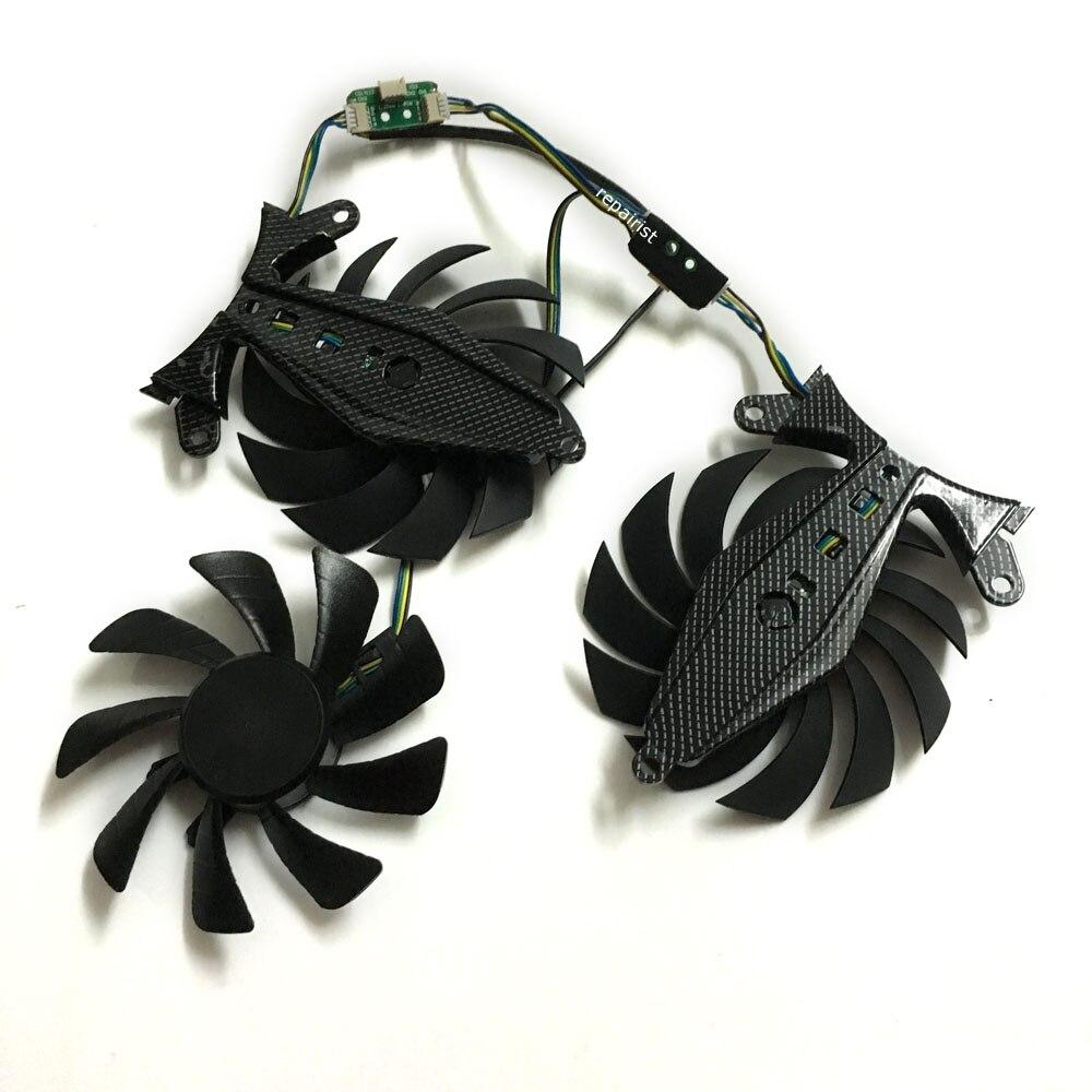 GTX970 GTX980 GTX1070 GTX1080 VGA GPU ventilador para tarjeta gráfica 4Pin para ZOTAC GeForce GTX 970/980TI/1070/1080 tarjeta de vídeo de refrigeración