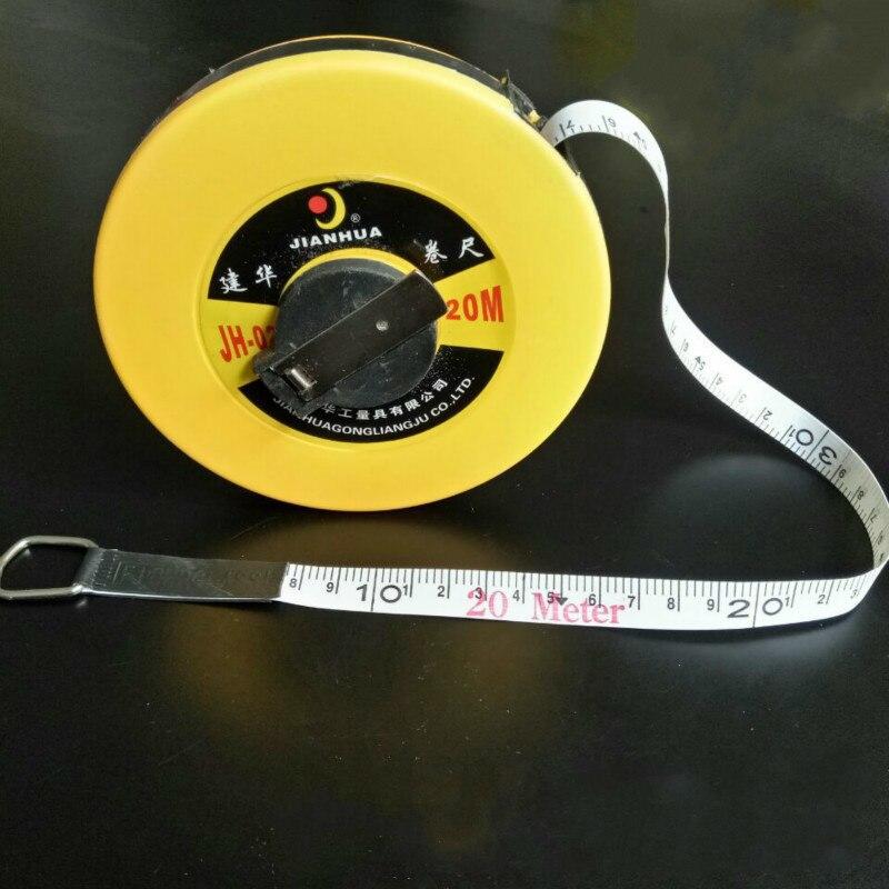Fita de fibra de vidro escala de medição de 20 metros 30 metros onda pés 50 metros 100 metros ferramentas de medição de fita