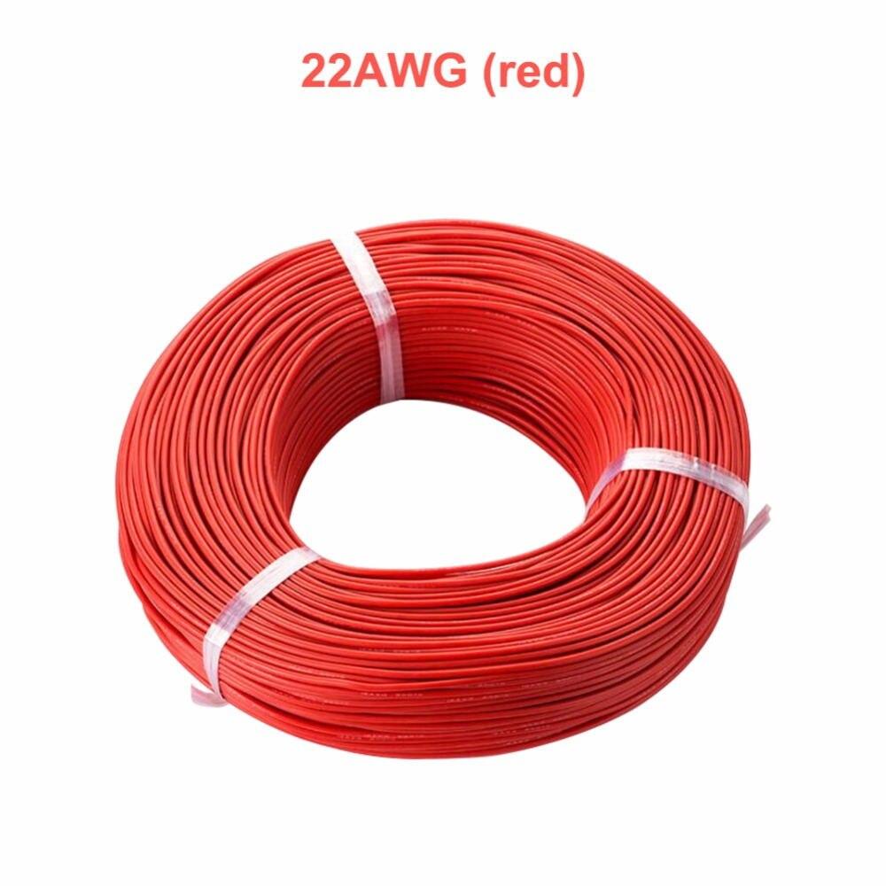 5 metro vermelho + 5 metro preto/lote 20 22 24 26awg calibre cabo de borracha flexível cabo de fio de borracha de silicone awg cabo trançado flexível