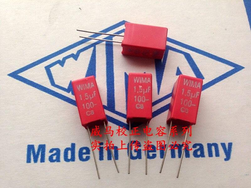 2019 venda quente 10 pces/20 pces wama capacitor mks2 100v 1.5uf 100v 155 1u5 p 5mm ponto capacitor de áudio frete grátis